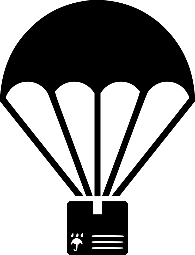 clip Parachute vector package. Clipart svg free on