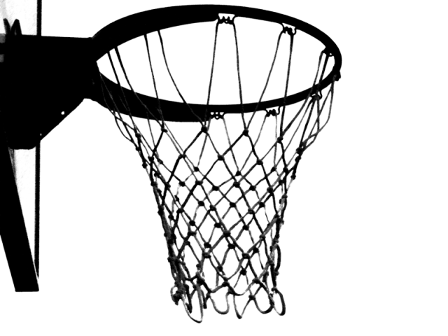clip art free stock Clip free stock black and white basketball in net