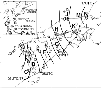 image black and white download Hourly locations of pressure dip axis