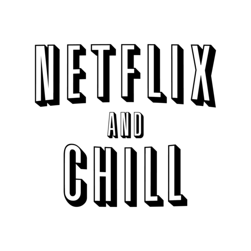 vector black and white stock netflix vector chill #100304586