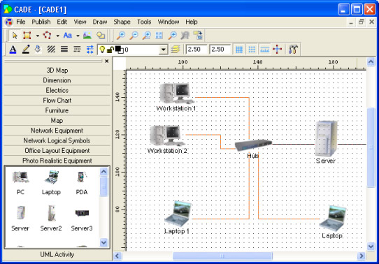 black and white stock network drawing software #138236645