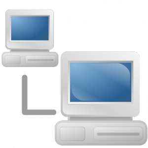 jpg black and white library Publicdomainvectors org network icon. Vector computer networking