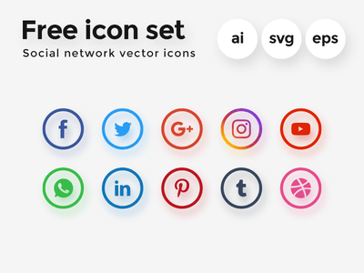 royalty free stock Vector button social media.  best icon sets