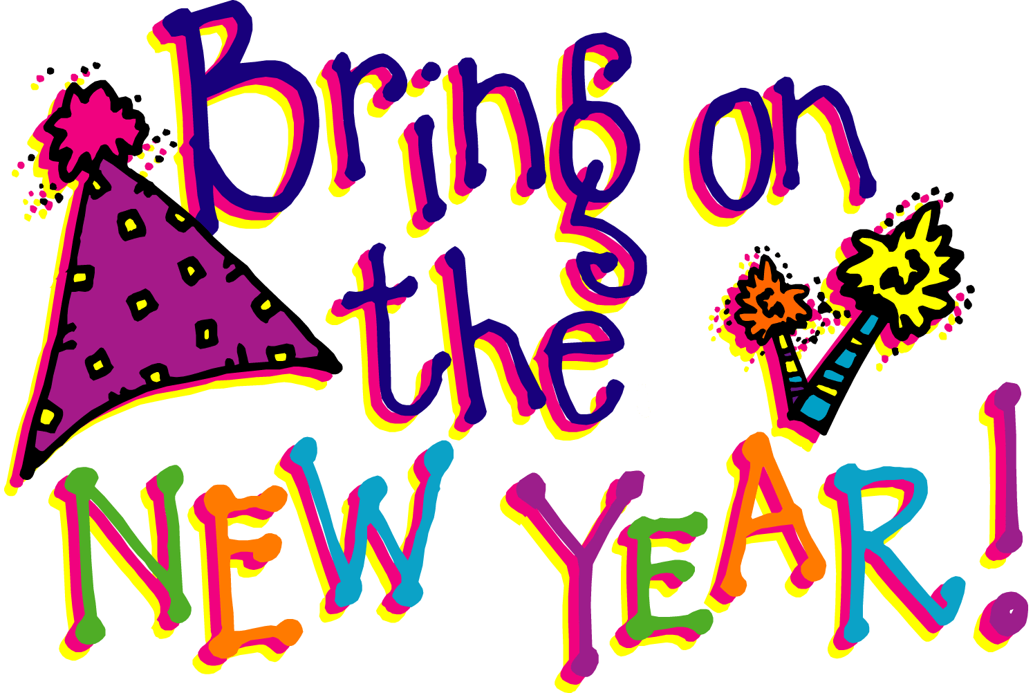 graphic New years eve clip. January images clipart.