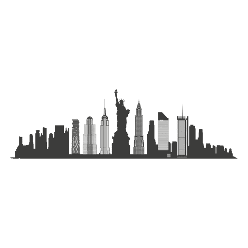 banner freeuse download New york skyline vector. City silhouette clipart.