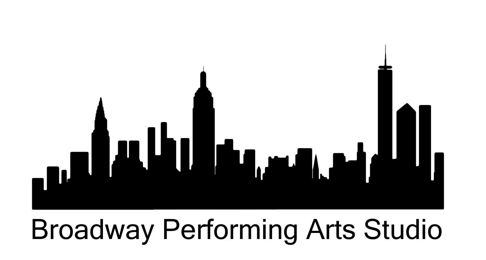 clip art freeuse library Image result for annie. New york skyline clipart black and white