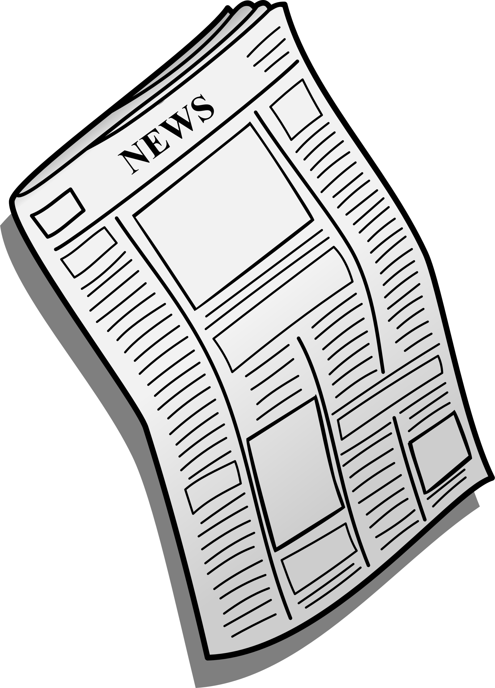 graphic transparent library Newspaper drawing at getdrawings. News clipart.