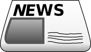 banner black and white download Blank newspaper . News clipart.