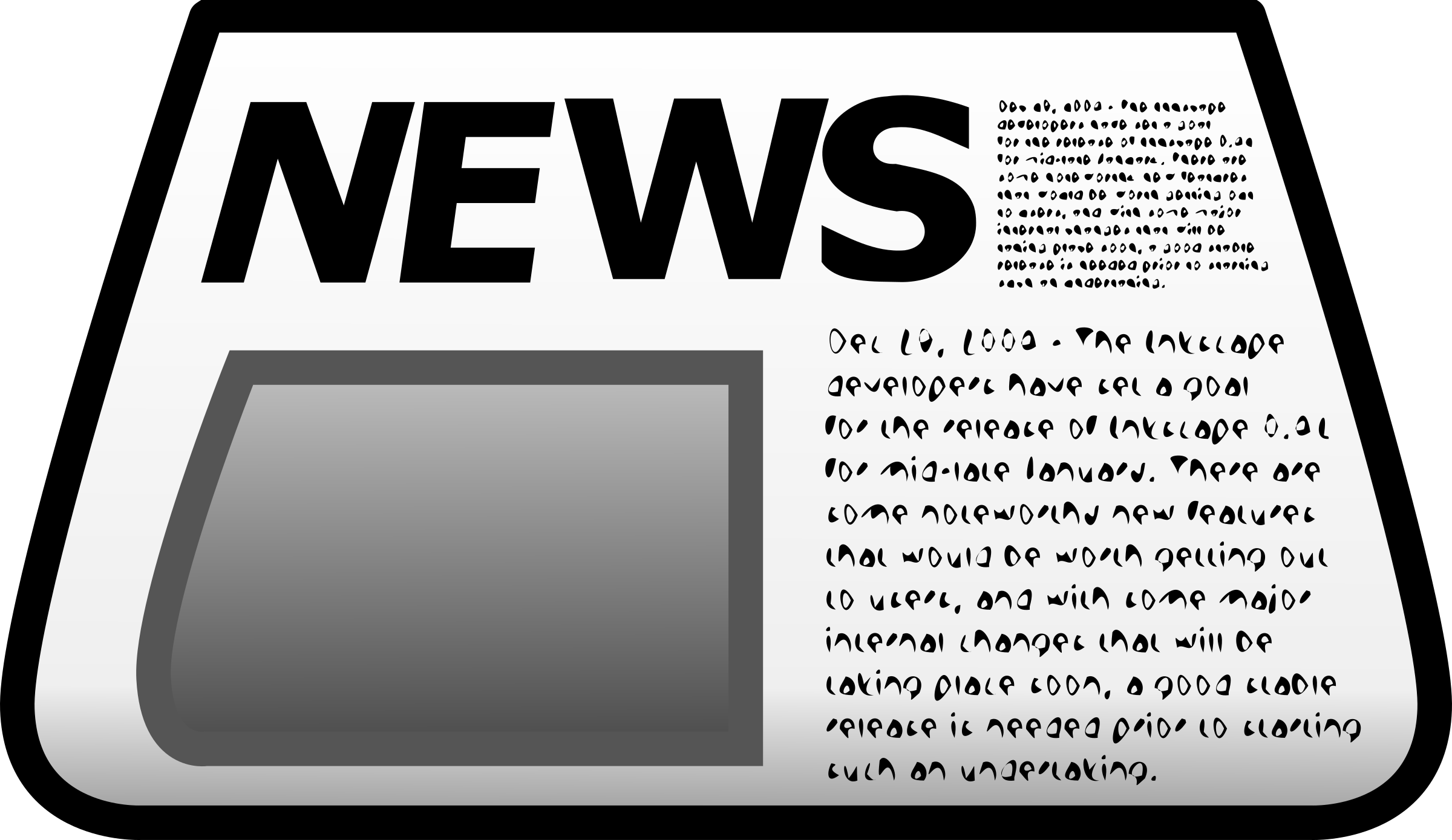 jpg transparent library Icon big image png. Newspaper clipart.