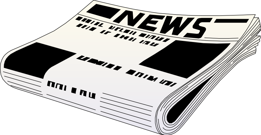 vector black and white library Newspaper Background Clipart