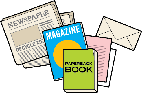 jpg transparent stock Newspaper Clipart recycled material