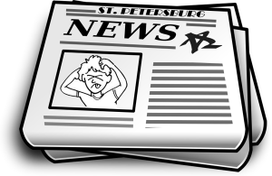 svg freeuse download Newspaper clipart book magazine. St petersburg news latest