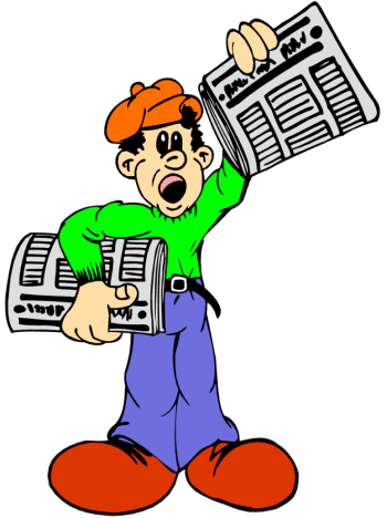 clip library stock Newspaper Boy Clipart