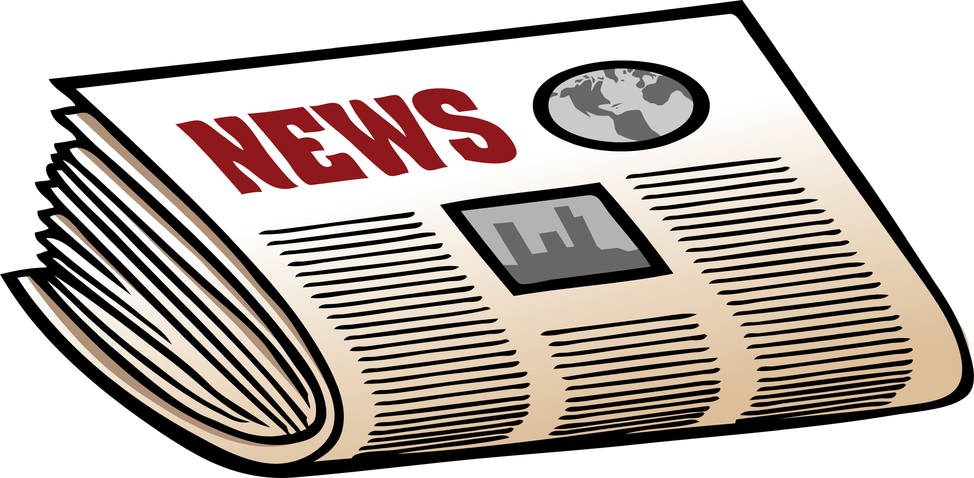 svg royalty free download Newspaper clipart. Bold newspaperclipart