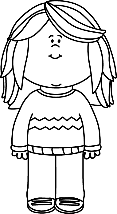 vector transparent library Army clipart black and white. Girl wearing a sweater.