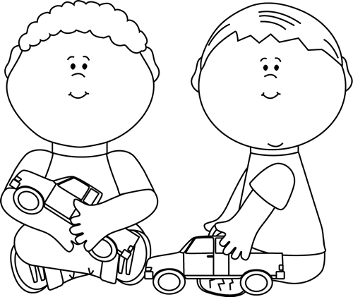 svg library library Black and white boys. Two kids talking clipart