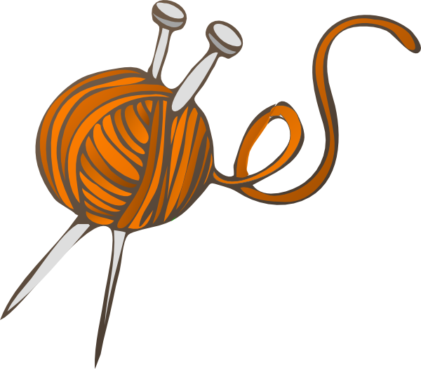 graphic transparent Clip art at clker. Knitting needles clipart