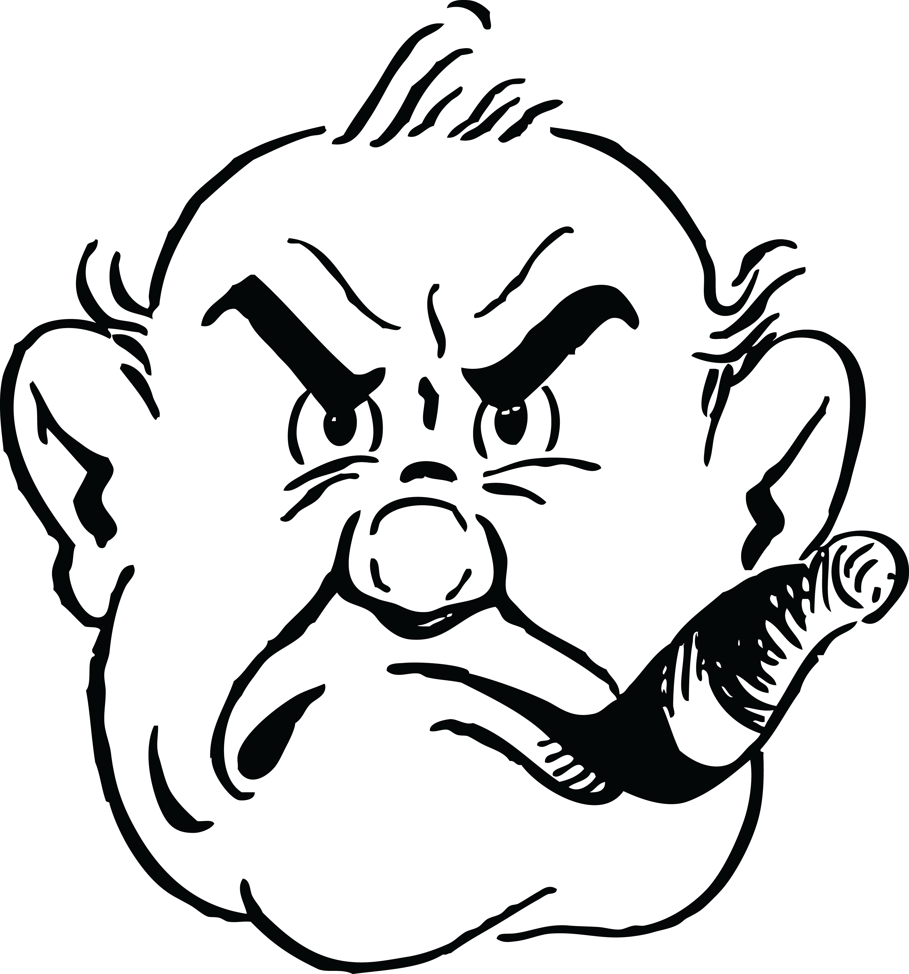 vector royalty free stock Grumpy cartoon network . Smoke clipart black and white