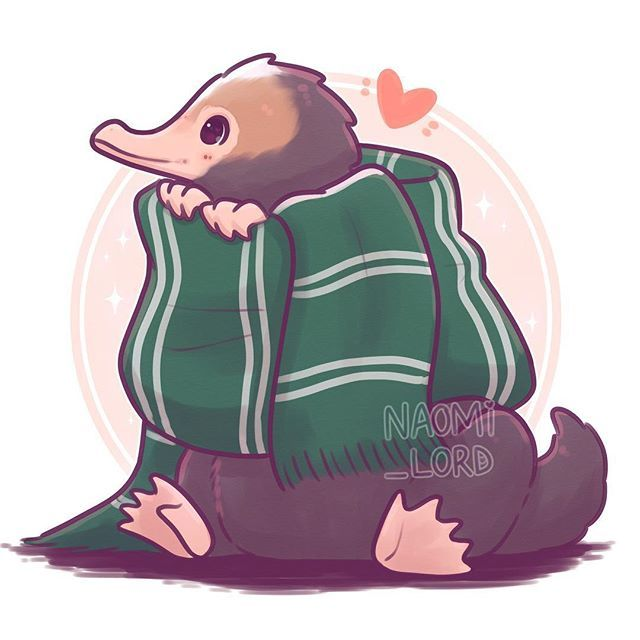 banner black and white library . Niffler drawing slytherin
