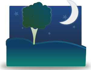 clipart library Night clipart. Landscape by clip art.