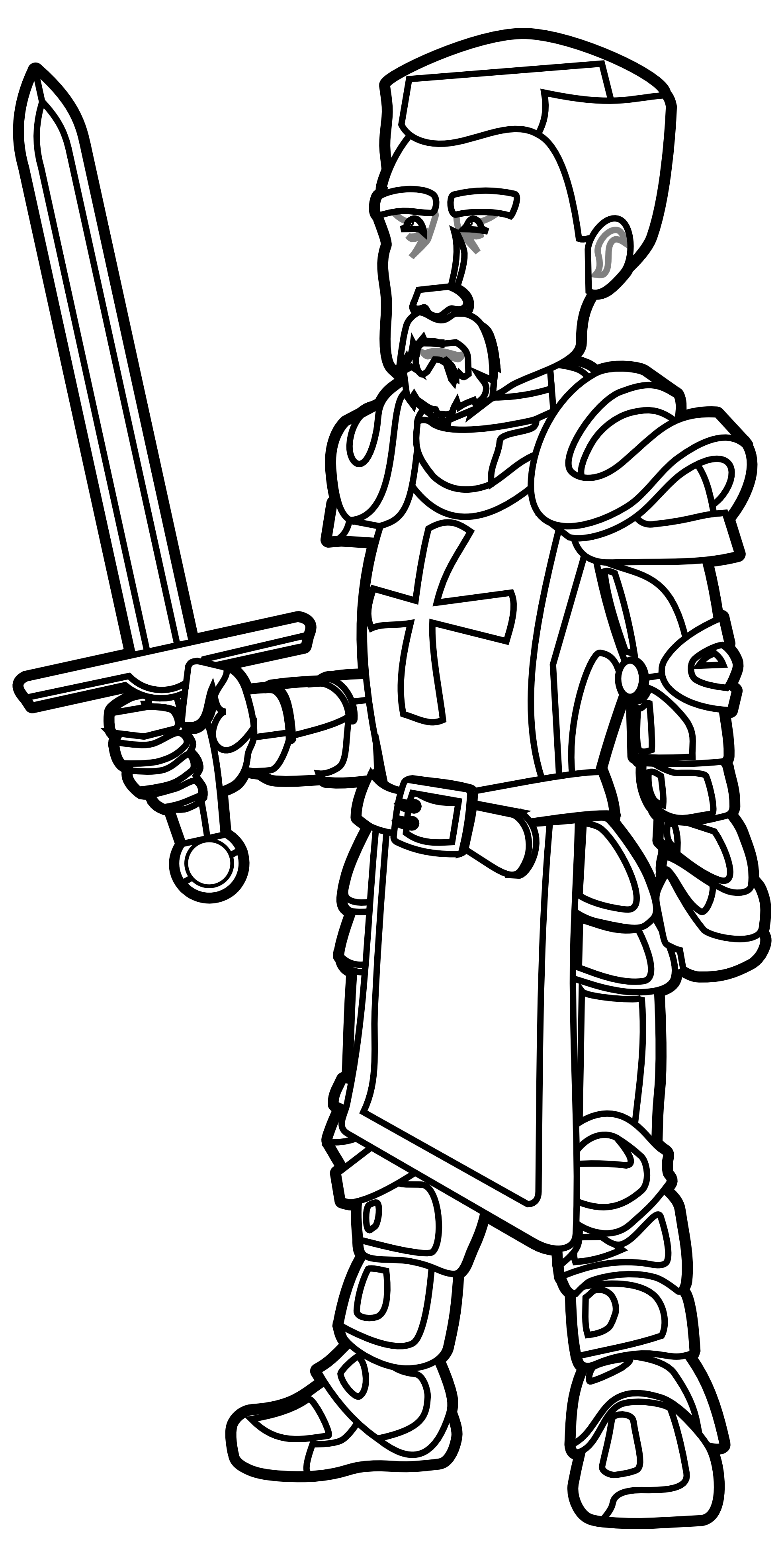 clip art library Greek clipart knight's. Night black and white