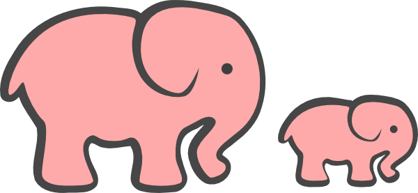 graphic transparent download Elephant Baby Shower Graphics Animals Cute Pink Clipart