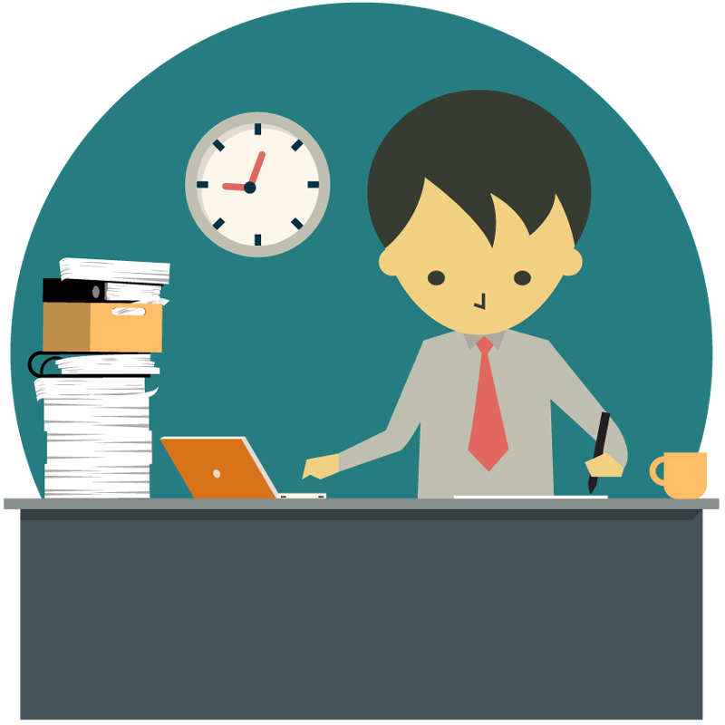clipart royalty free download Working overtime clipart. Portfolio designshop business man.