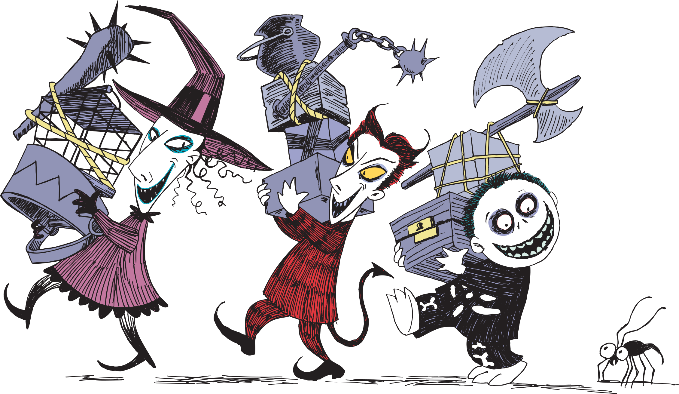 vector library download Christmas sticker book disney. Nightmare before clipart.