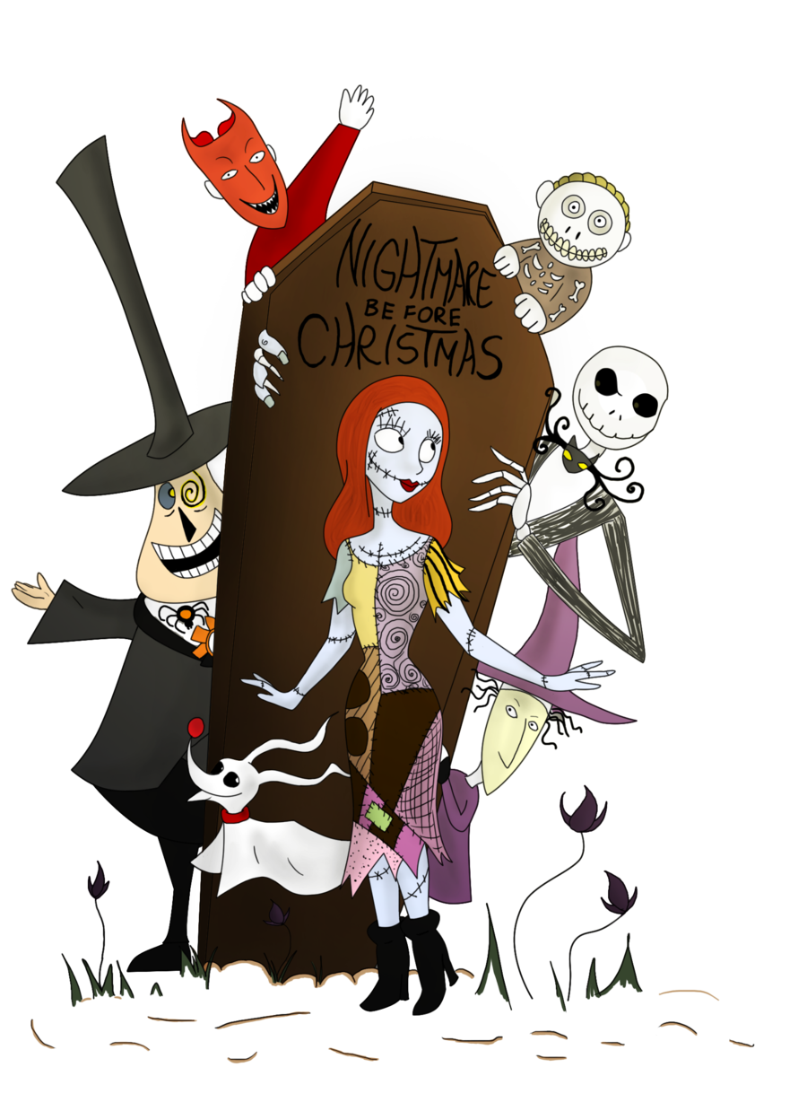 graphic Nightmare Before Christmas by clwnprincessofcrime