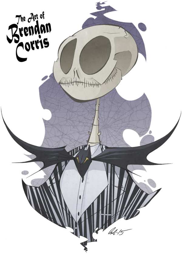 png black and white library Jack Skellington the Pumpkin King by Brendan Corris