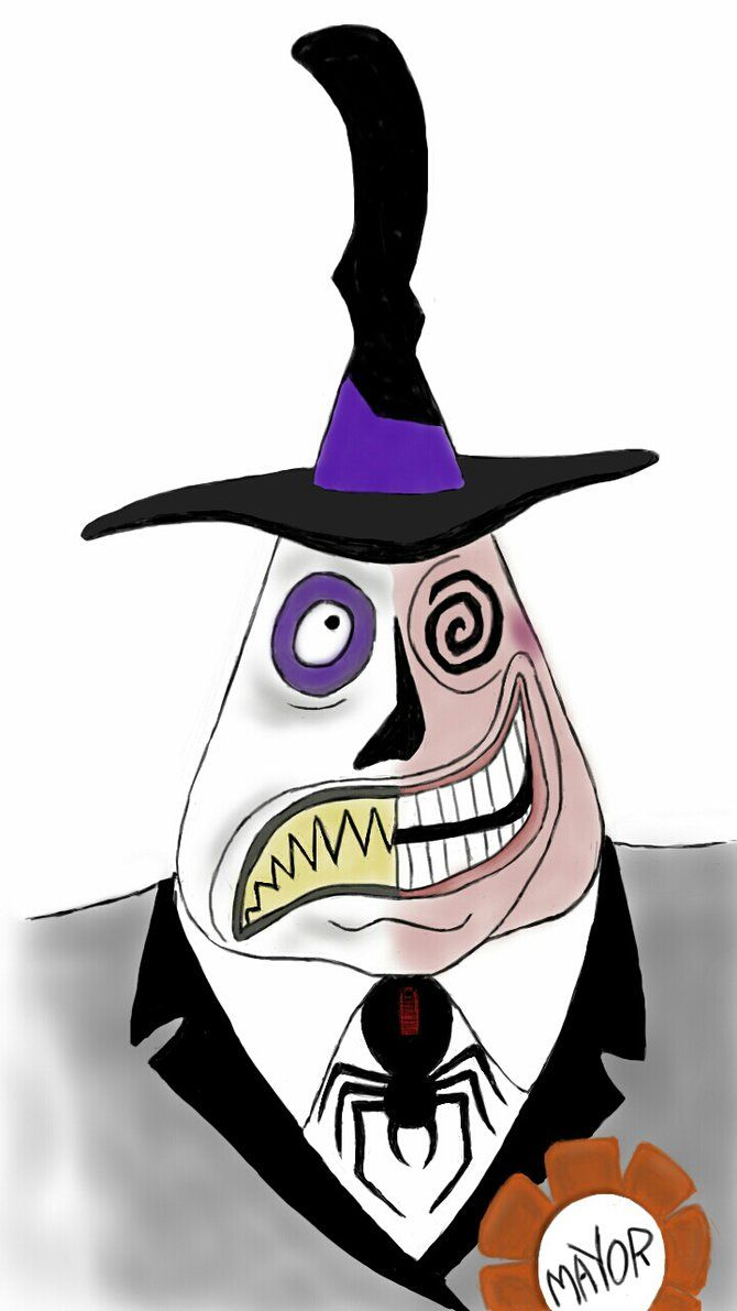 svg royalty free library Before christmas art mayor. Nightmare drawing halloween town