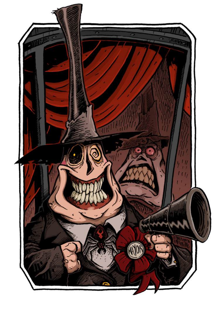 picture royalty free Nightmare drawing halloween town. Mayor by boredman on