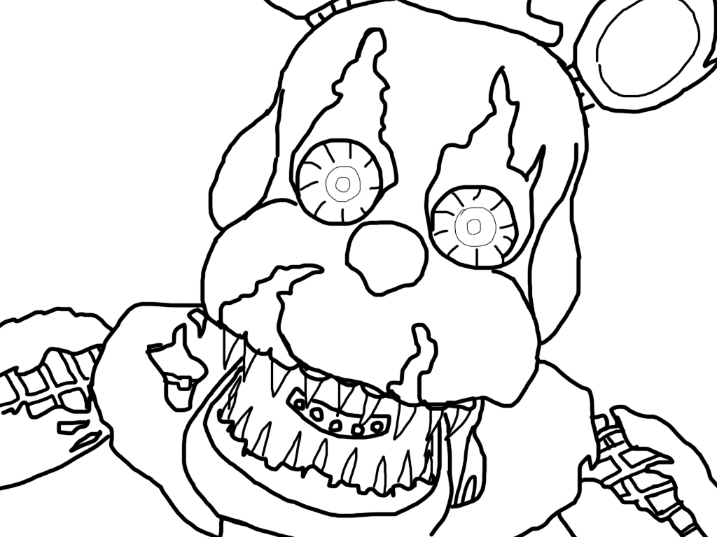 image library library Nightmare drawing. Freddy base by howlinghill