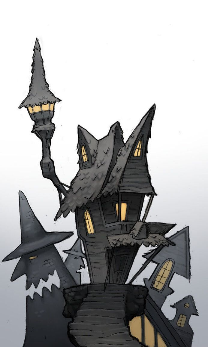 black and white library Nightmare drawing halloween town. Halloweentown buildings the before