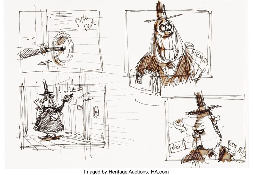 royalty free Nightmare drawing halloween town. The before christmas mayor