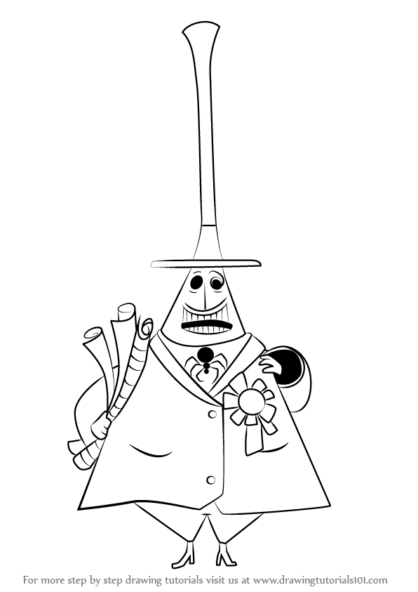 image black and white stock Learn how to draw. Nightmare drawing halloween town
