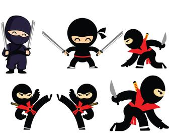graphic free library Etsy . Ninja clipart.