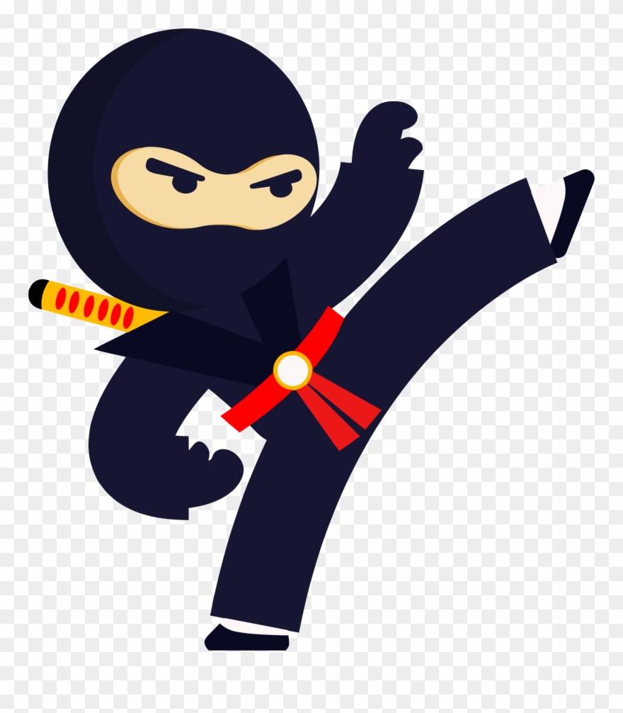 jpg royalty free stock Big image kicking png. Ninja clipart.