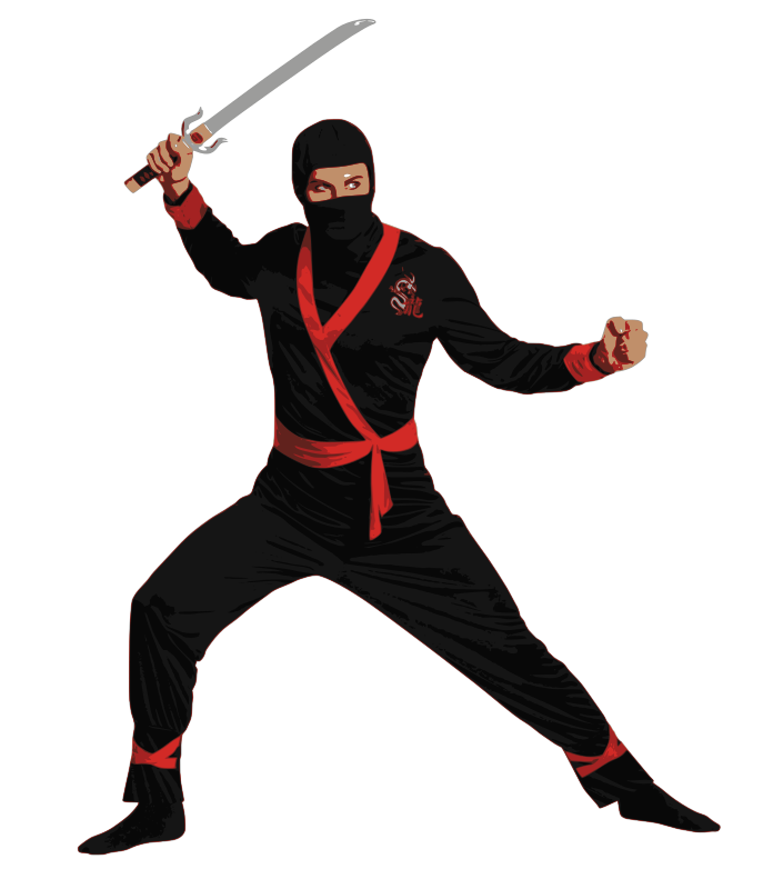 vector library download ninja clipart free to use public domain ninja clip art science