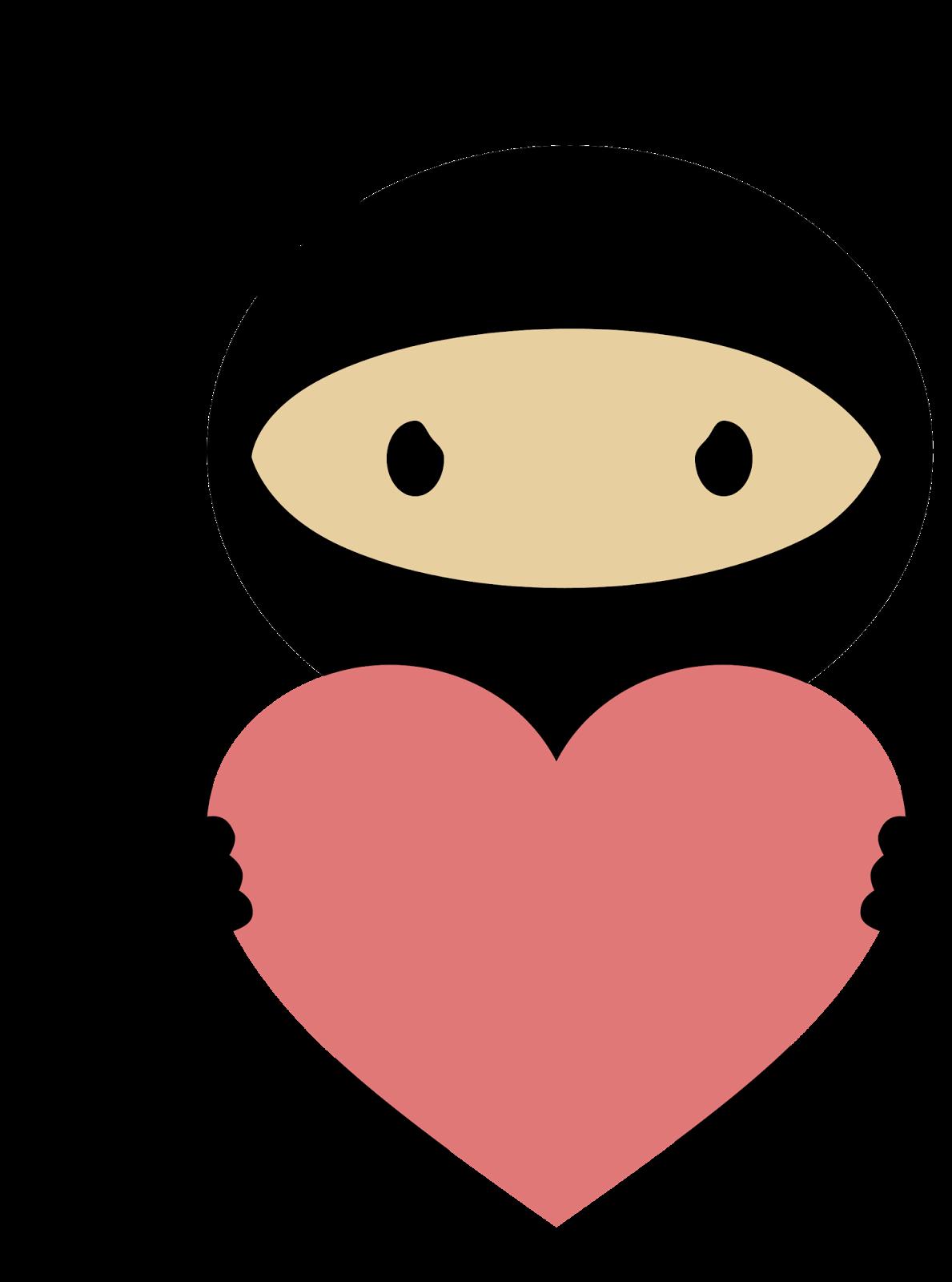 clipart royalty free Ninja in Love Clipart