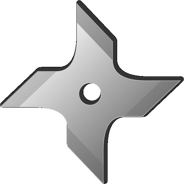 png download Ninja Star Clip Art at Clker