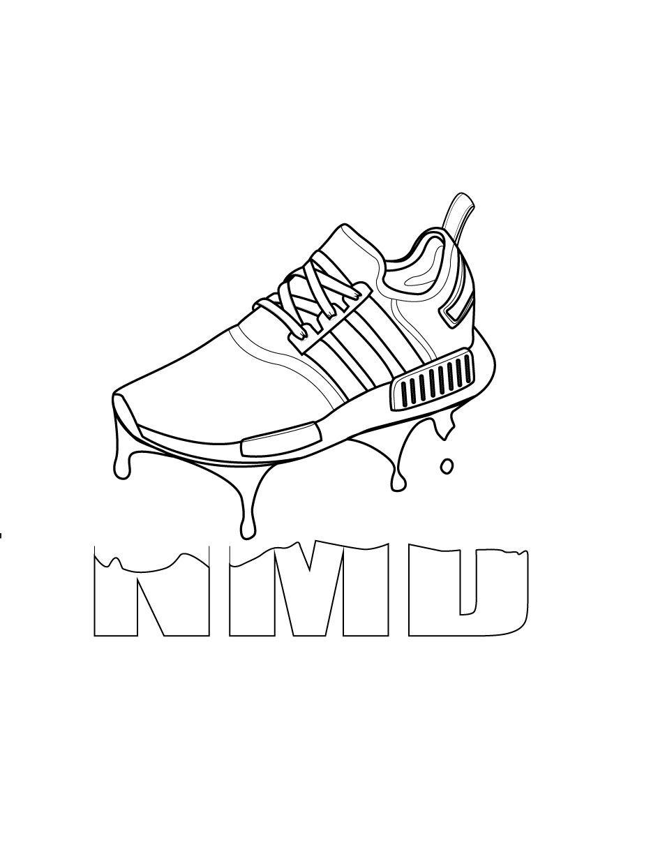 transparent Adidas NMD line illustration