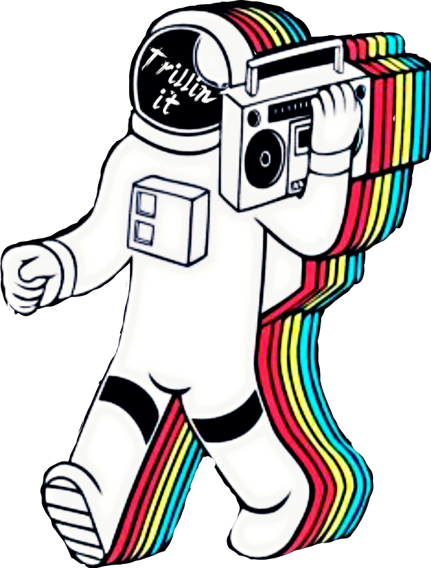 graphic free download Drawing randomizer trippy. Trill astronaut sticker by