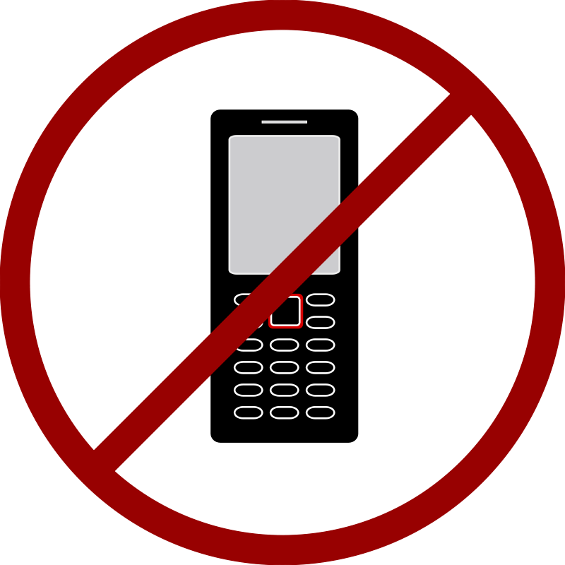 image free No Cell Phone Clipart