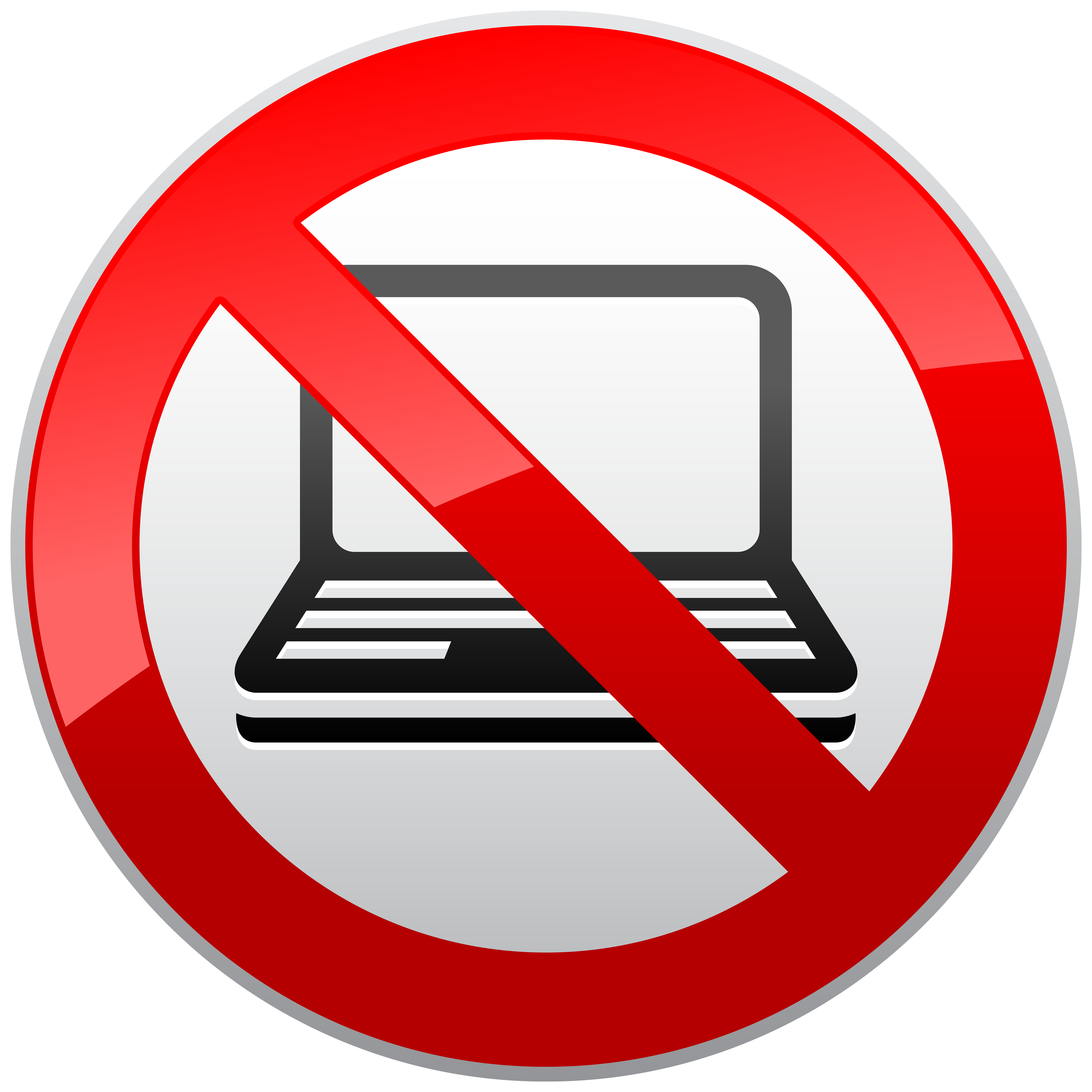 image black and white stock No clipart. Laptop prohibition sign png