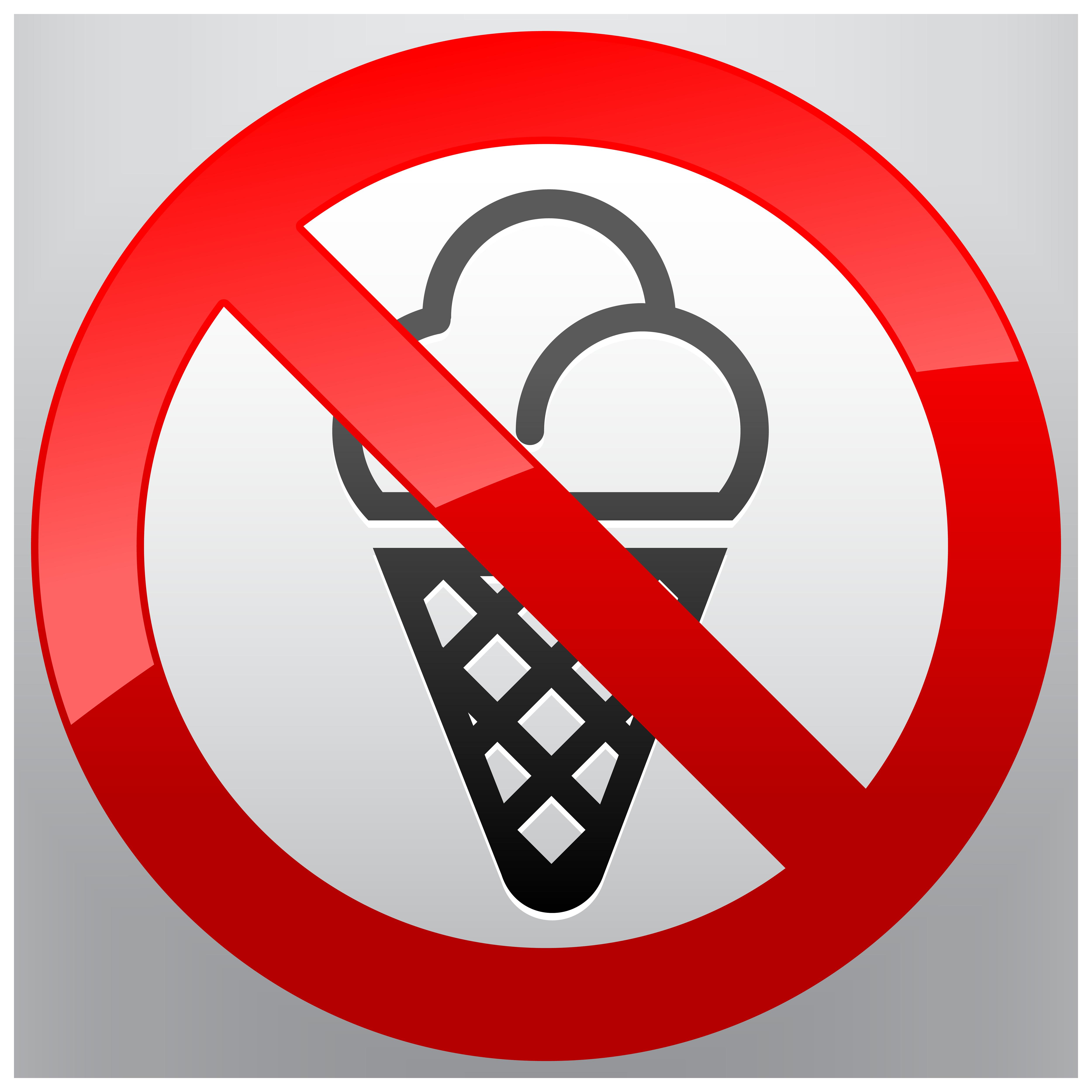 clip transparent library No clipart. Ice cream prohibition sign