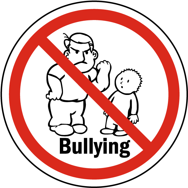 svg royalty free download No Bullying Label F