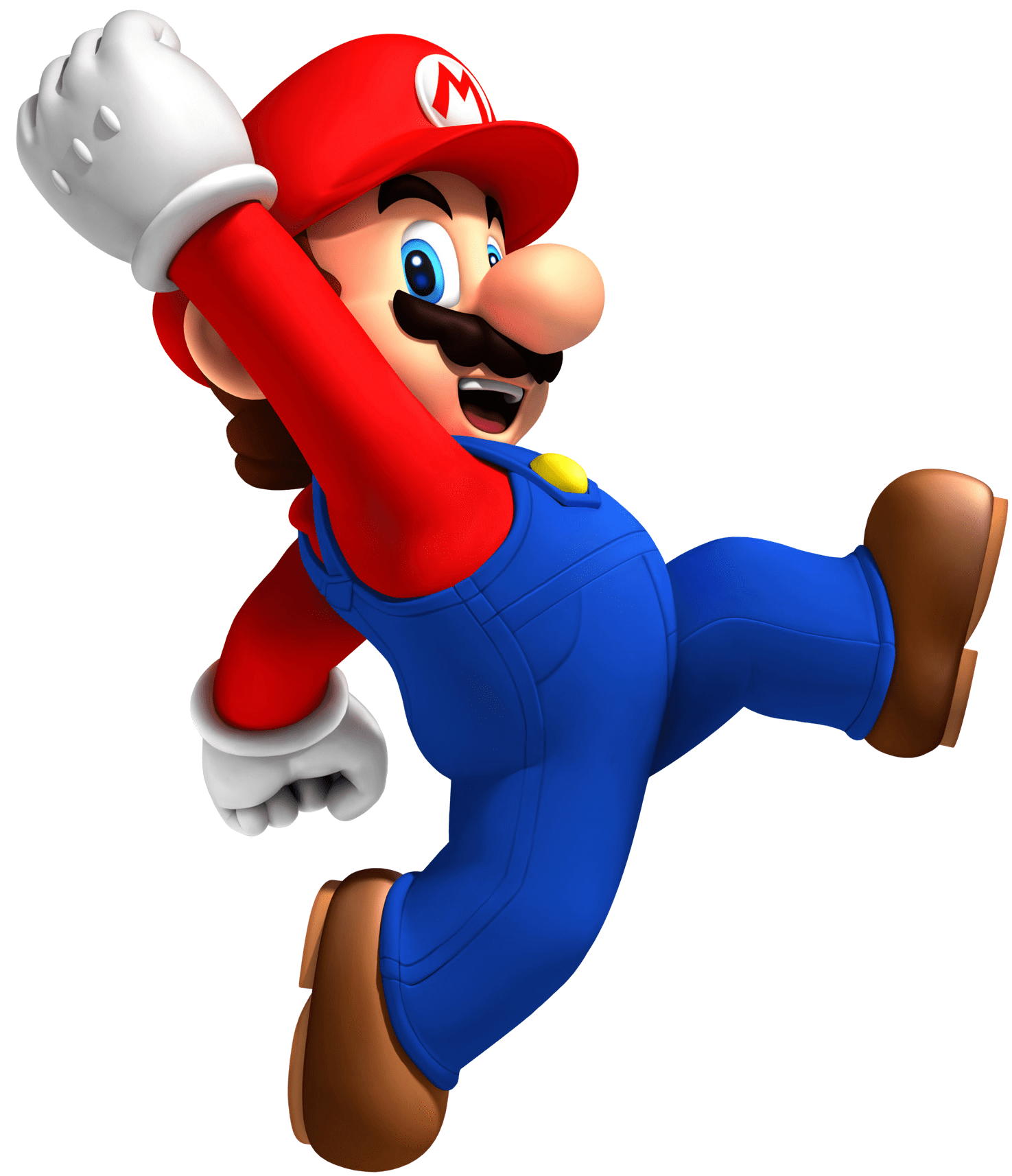 vector black and white Mario Running transparent PNG