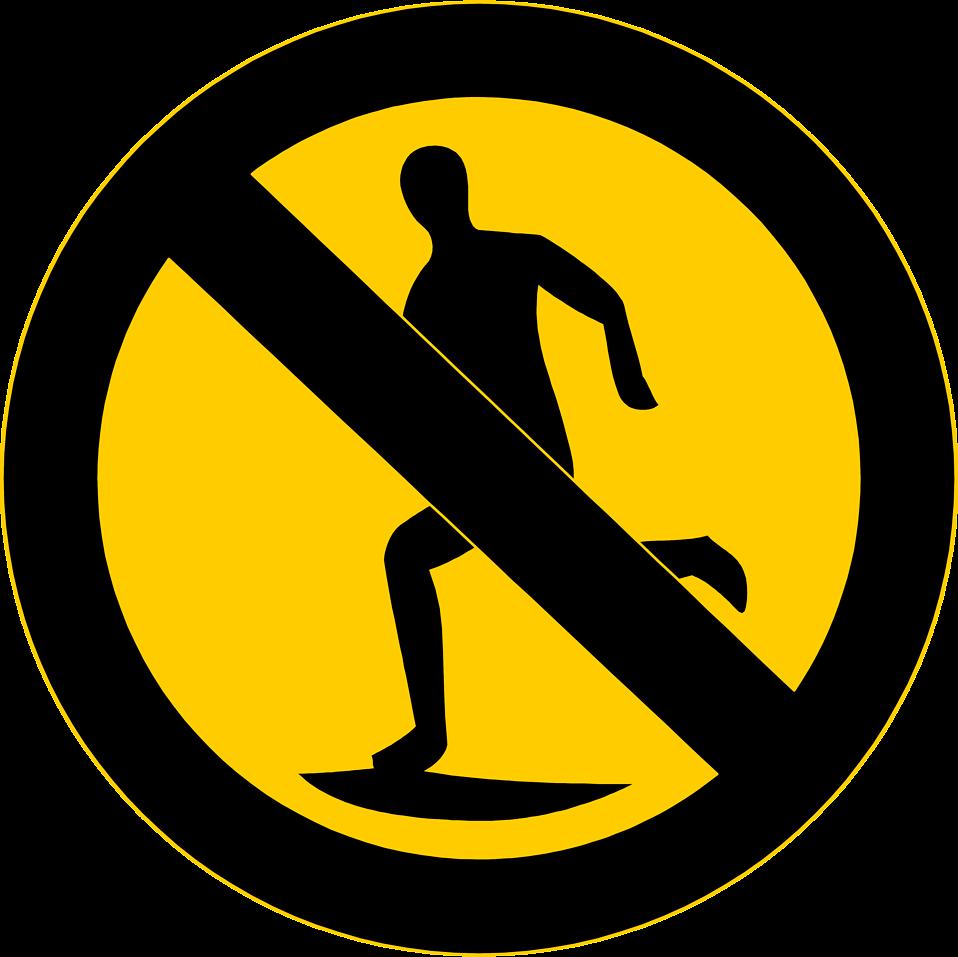 vector No Running Clipart