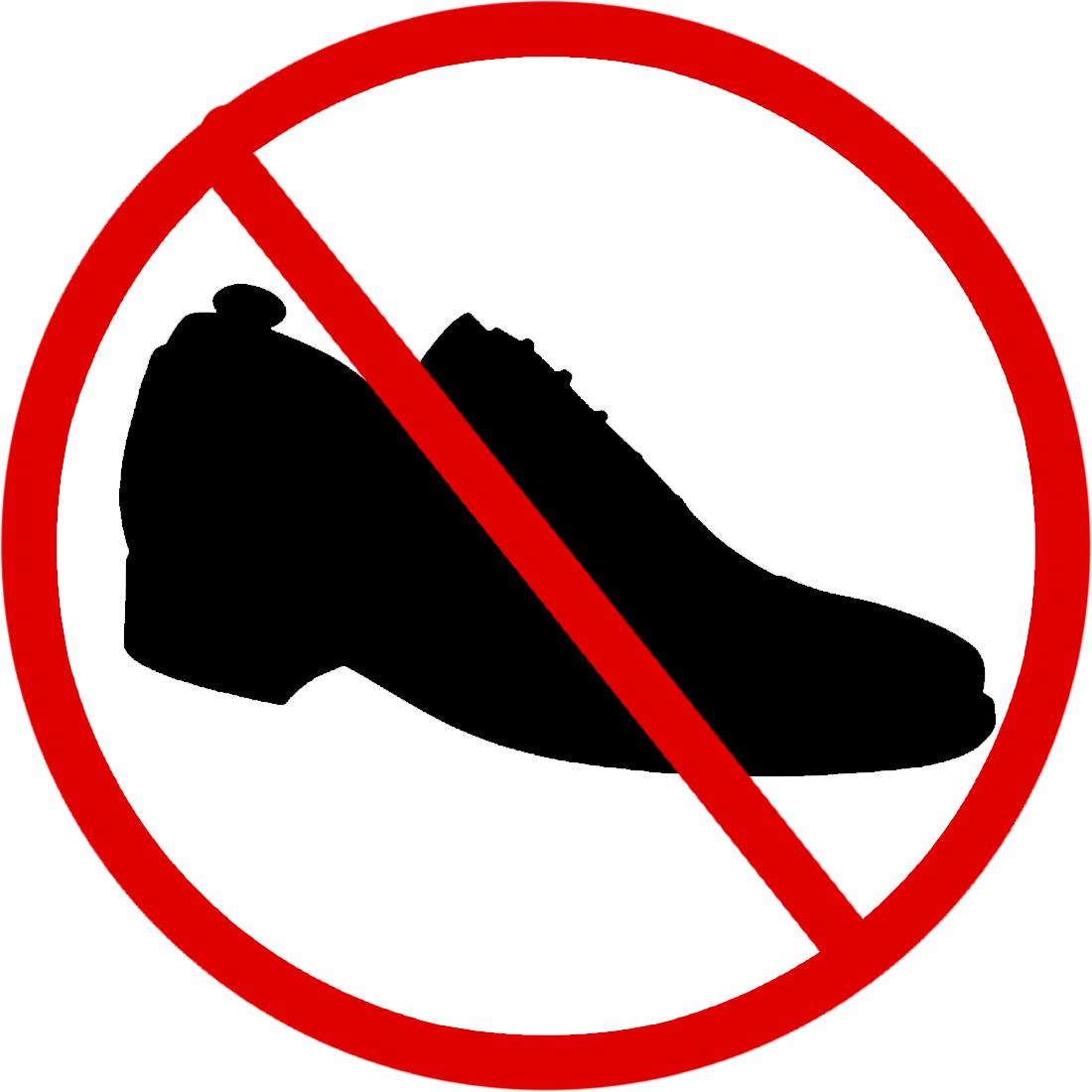 png library No Shoes Allowed Clipart